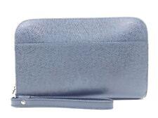 Louis Vuitton Black Taiga Leather Clutch Travel Baikal Ardoise Strap Bag B150