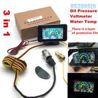 Car LCD 4 in 1Gauge Viable Water Temperature//Oil Pressure//Fuel//voltage Gauges