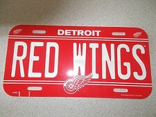 """DETROIT """"RED WINGS"""" LICENSE PLATE"""