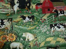 Fat Quarter Joan Kessler Country Farmyard Animals 100% Cotton Fabric-48cm x 50cm