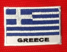 GREECE GREEK HELLENIC HELLAS CROSS COUNTRY FLAG BADGE IRON SEW ON PATCH EUROPE