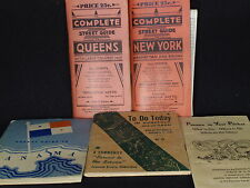 WW2 Soldier Port Guides - New York - Hawaii - Panama - 5 Total