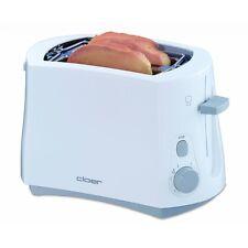 Cloer Toaster 331 Weiss wärmeisoliertes Gehäuse Brötchenaufsatz 825 Watt
