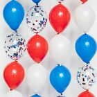 Riles & Bash Red White and Blue Link Balloons - 4th of July Balloons - Patriotic