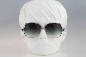 Silhouette M 1757 20 C 1866, Vintage 80s blue oversized butterfly sunglasses
