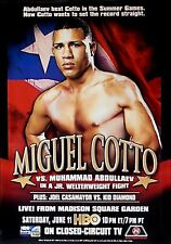 Miguel Cotto vs. Muhammad Abdullaev Boxing Fight Poster