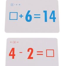 72 Pcs Cards Math Flash Cards for Elementary School Addition and Subtraction