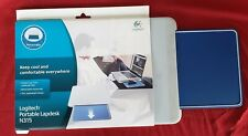 NEW Logitech Portable Lapdesk N315 with Retractable Mouse Pad, Quill Gray