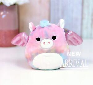 """KellyToy Squishmallow 5"""" Jaime the Pink Tie Dye Pegasus NEW LT ED HTF Plush Toy"""