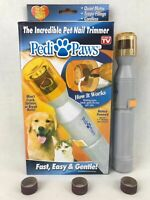 Pedi Paws Pet Nail Pedicure Trimmer Grinder Grooming Tool Care Clipper Dog Cat