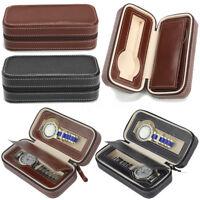 Coffret Cuir pour 2 montres boîte à montre boîtier rangement bijoux