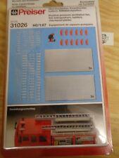 H0 Preiser 31026 Überdrucklüfter, Feuerlöscher, Leitern etc. Bausatz. OVP
