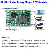 Lithium Li-ion 3.7V Battery Charging Board Mini DC 5V Converter DIY Power Supply