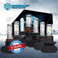 2x LED Headlight H4 H7 H11 H13 9005 9006 9007 H1 H8 Fog Bulbs Hi Lo Beam 6000K