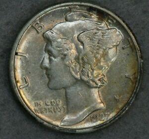 1927-D 10C Mercury Silver Dime Album Set Break High Grade Collection AU BU UNC