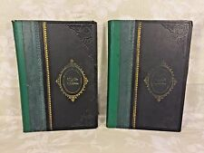 Vintage Set of 2 Volumes of Books in Hebrew in Slipcover Circa 1930
