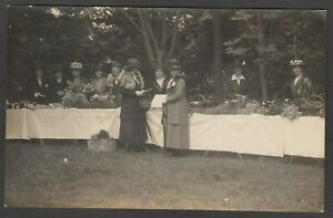 Postcard Newcastle on Tyne Northumberland early view Ladies at flower stall RP