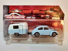 VW Beetle Volkswagen With Trailer Caravan VINTAGE Majorette  DieCast Car 1:64