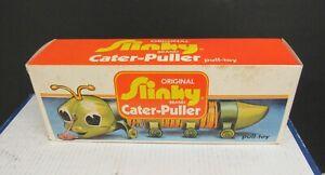 Vintage Original Slinky Caterpuller Caterpilar Pull Toy New