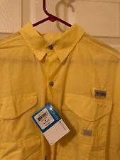 Columbia PFG Men's Yellow Vented Fishing Shirt Medium