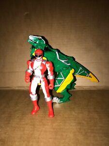 Power Rangers Dino Charge Kyoryuger Green Raptor Zord Zakutor + Red Ranger
