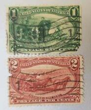 US Stamp Scott SC #285 #286 – 1898 Trans-Mississippi Exposition Used