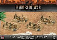 Flames of War German 10.5cm Artillery Battery - GBX91 1:100 Mid War WWII THG