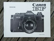 Canon EF Instruction Manual - Original not a copy - Free UK Postage