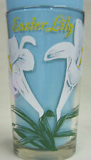 Easter Lily Peanut Butter Glass Glasses Drinking Kitchen Mauzy 24-2