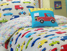 Traffic Jam Kids Boys Single Bed Quilt Doona Cover & Pillowcase Set rrp $84.95