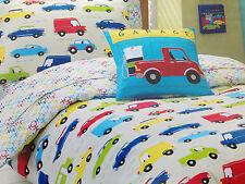 Traffic Jam Kids Boys Single Bed Quilt Doona Cover & Pillowcase Set rrp $84.95