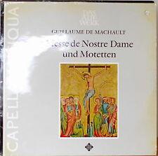 MACHAULT: La Messe de Nostre Dame-M1971LP GERMAN IMP DAS ALTE WERK w/TEXT INSERT
