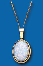 Opal Pendant Opal Necklace Yellow Gold Opal Pendant Large Opal Necklace