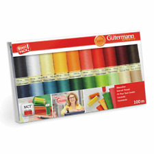 Gutermann Sew All Thread Set - 20 x 100m Reels Mix Colours - Extra Strong