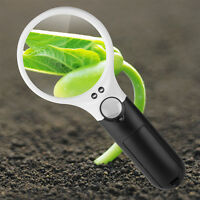 Handheld 45x Magnifying Glass w/ LED Light, Manifier for Coins, Jewelry, Reading