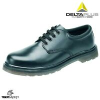 Delta Plus LH151 SB SRA Black Mens Steel Toe Cap Gibson Derby Safety Shoes PPE