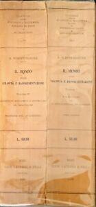 IL MONDO COME VOLONTÀ E RAPPRESENTAZIONE - ARTURO SCHOPENHAUER- 1928 - 2 VOLL.
