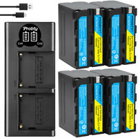 7800mAh NP-F970 NP-F960 Battery or Charger for Sony NP-F770 F570 NP-F550 NP-F950