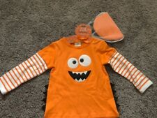NWT! Monster Little Wishes T Shirt & Hat Set / Halloween Costume Size 6-12 Mo