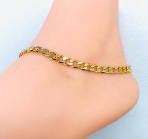 Pulsera Tobillera de Pie para Mujer en Oro Laminado,GF Beautiful Anklet Bracelet