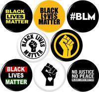 BLACK LIVES MATTER #2 8 NEW 1 Inch (25mm) Pinback Buttons Badges Pins BLM