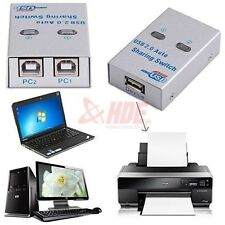 USB 2.0 Switch High Speed USB Sharing Switcher For Printers Scanners And More
