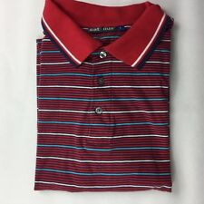 Catullus  Size L Short Sleeved Red Blue & White Striped Polo