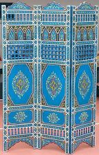 Soft Blue  Moroccan Room Wood Divider Screen Partition Panel Wall   Separation