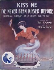 Kiss Me I've Never Been Kissed Before, Lewis and Dody, 1913 Vintage Sheet Music
