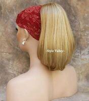 Blonde Mix Ponytail Straight/Wavy Reversible Drawstring Extension Hair Piece