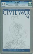 CIVIL WAR #4 MICHAEL TURNER SKETCH VARIANT 1:75 CGC 9.8 CAPTAIN AMERICA 3 MOVIE