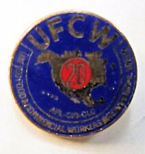 UFCW 20 YEAR United Food & Commercial Workers union tietac tie tack pin Mint MOC