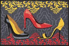 wash+dry Fußmatte Türmatte Teppich waschbar Bodenmatte 50 x 75 cm Shoe Style