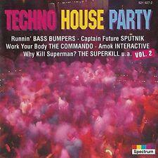 Techno House Party 02 (1994) X Cite, Bass Bumpers, Interactive, Sputnik, .. [CD]